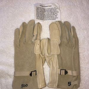 Military Work Gloves Cattlehide Leather